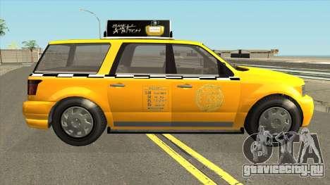 GTA V Vapid Taxi IVF для GTA San Andreas вид сзади