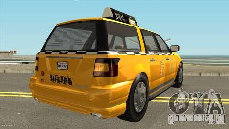 GTA V Vapid Taxi IVF для GTA San Andreas вид справа