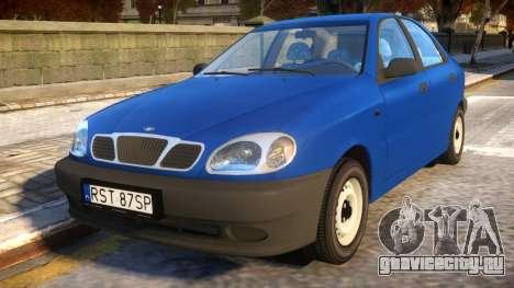 Daewoo Lanos Sedan S PL 1997 для GTA 4