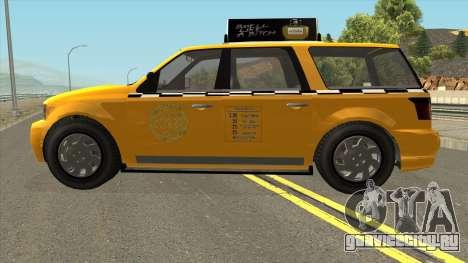 GTA V Vapid Taxi IVF для GTA San Andreas вид слева