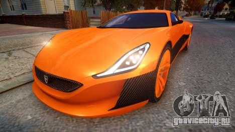 2016 Rimac Concept One для GTA 4