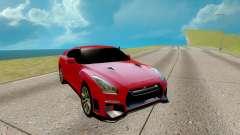 Nissan GTR Nismo красный для GTA San Andreas