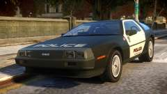 DeLorean DMC-12 Police для GTA 4