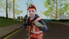 Новый скин рабочего для GTA San Andreas