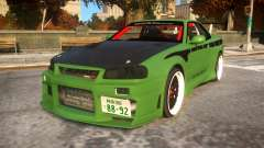 Fast And Furious Nissan Skyline R33 для GTA 4
