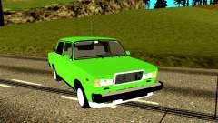 ВАЗ 2107 лайм для GTA San Andreas