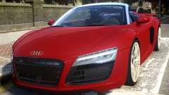 2014 Audi R8 V10 Plus Spyder v1.0 для GTA 4
