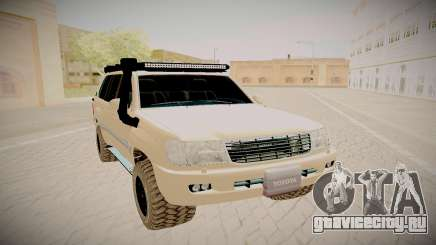 Toyota Land Cruiser 100 серебристый для GTA San Andreas
