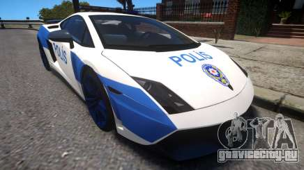 Lamborghini Gallardo LP570-4 2011 Turkey Police для GTA 4