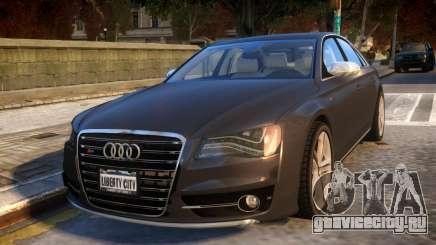 2013 Audi S8 4.0TFSI Quattro для GTA 4