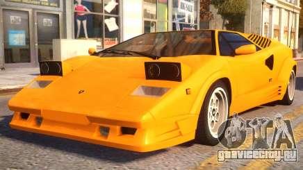 1989 Lamborghini Countach 25th Anniversary v1.1 для GTA 4