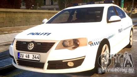 Volkswagen Passat Danish Police для GTA 4
