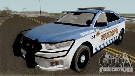 Ford Taurus 2013 Red County Police для GTA San Andreas