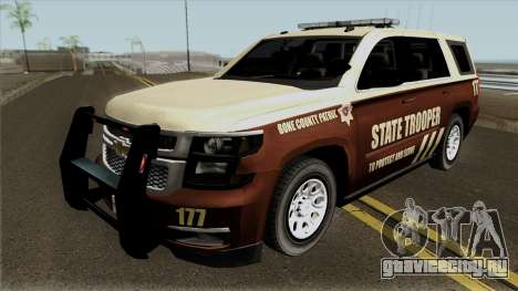 Chevrolet Tahoe 2015 Bone County Police для GTA San Andreas