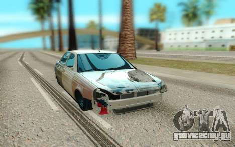 Lada Priora Битая для GTA San Andreas