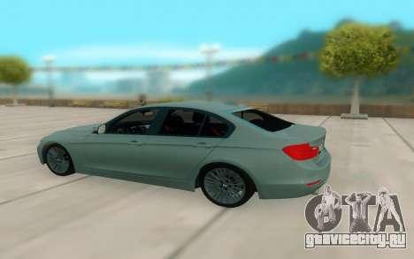 BMW 335i для GTA San Andreas вид сзади