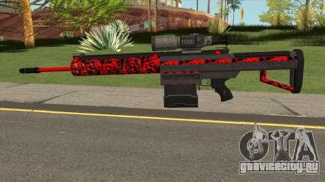 New Military Sniper Rifle Red для GTA San Andreas