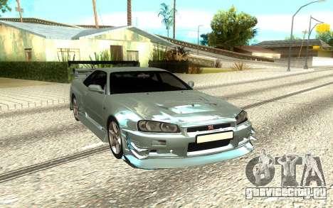 Nissan Skyline R34 Supersport для GTA San Andreas