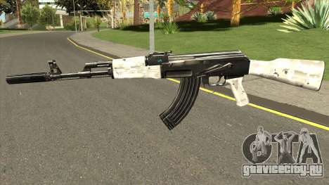 AK-47 Grey Chrome для GTA San Andreas