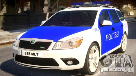 Estonian Police Skoda Octavia RS Combi 2010 для GTA 4