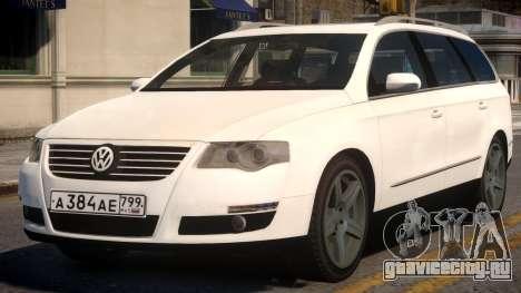 Volkswagen Passat Variant 2010 v2 для GTA 4