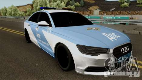 Audi A8 Police для GTA San Andreas вид изнутри