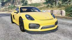 Porsche Cayman GT4 (981C) 2016 v1.1 [replace] для GTA 5