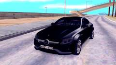 Mercedes-Benz C63 Black для GTA San Andreas