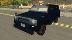 FBI Truck Civil No Paintable для GTA San Andreas