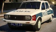 Renault 12 Turkish Police v.2 для GTA 4