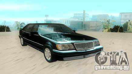 Mercedes-Benz W140 S600 Stock для GTA San Andreas