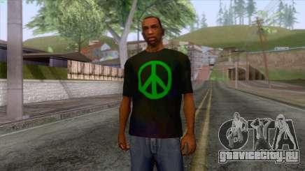 Hippie T-Shirt 1 для GTA San Andreas