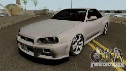 Nissan Skyline GT-R Spec VII 2002 Tunable для GTA San Andreas