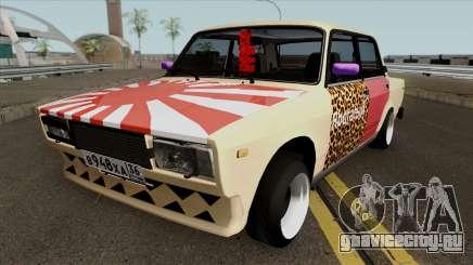 ВАЗ 2107 Боевая Классика Леопард для GTA San Andreas