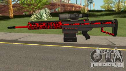 New Military Sniper Rifle Red для GTA San Andreas