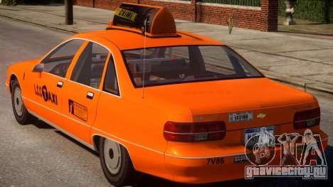 1991 Chevrolet Caprice Taxi v2 для GTA 4 вид сзади слева