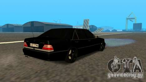 Mercedes-Benz S600 From Brigada для GTA San Andreas вид изнутри