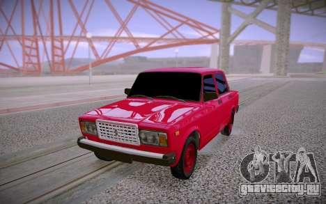 ВАЗ 2107 Красный для GTA San Andreas