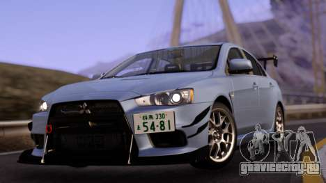 Mitsubishi Lancer Evolution X with Black Spoiler для GTA San Andreas
