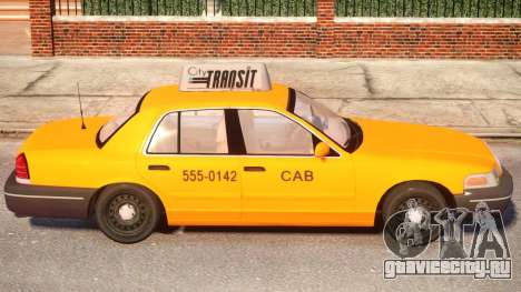 Ford Crown Victoria Taxi для GTA 4 вид сзади