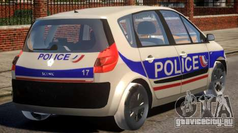Renault Scenic II Police для GTA 4 вид справа
