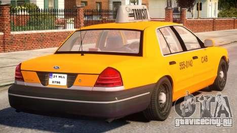 Ford Crown Victoria Taxi для GTA 4 вид справа