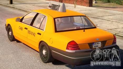 Ford Crown Victoria Taxi для GTA 4 вид сзади слева