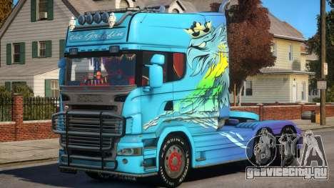 Scania R580 Longline Custom PJ5 для GTA 4