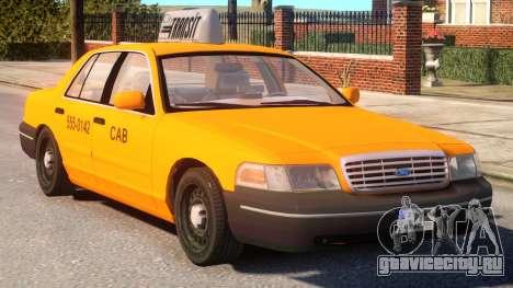Ford Crown Victoria Taxi для GTA 4 вид изнутри