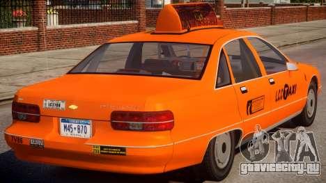 1991 Chevrolet Caprice Taxi v2 для GTA 4 вид справа