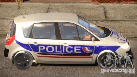Renault Scenic II Police для GTA 4 вид сзади