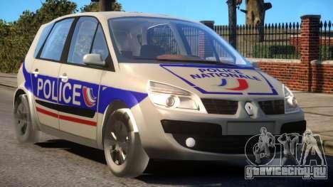 Renault Scenic II Police для GTA 4 вид изнутри