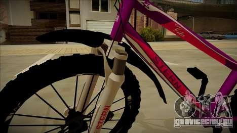 Велосипед Stern для GTA San Andreas вид сзади
