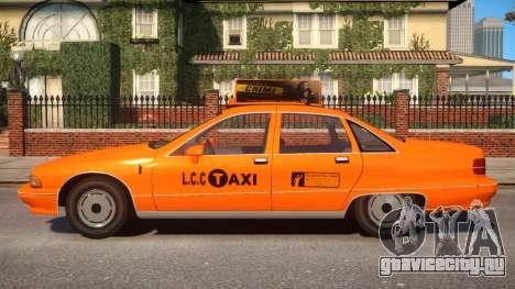 1991 Chevrolet Caprice Taxi v2 для GTA 4 вид слева
